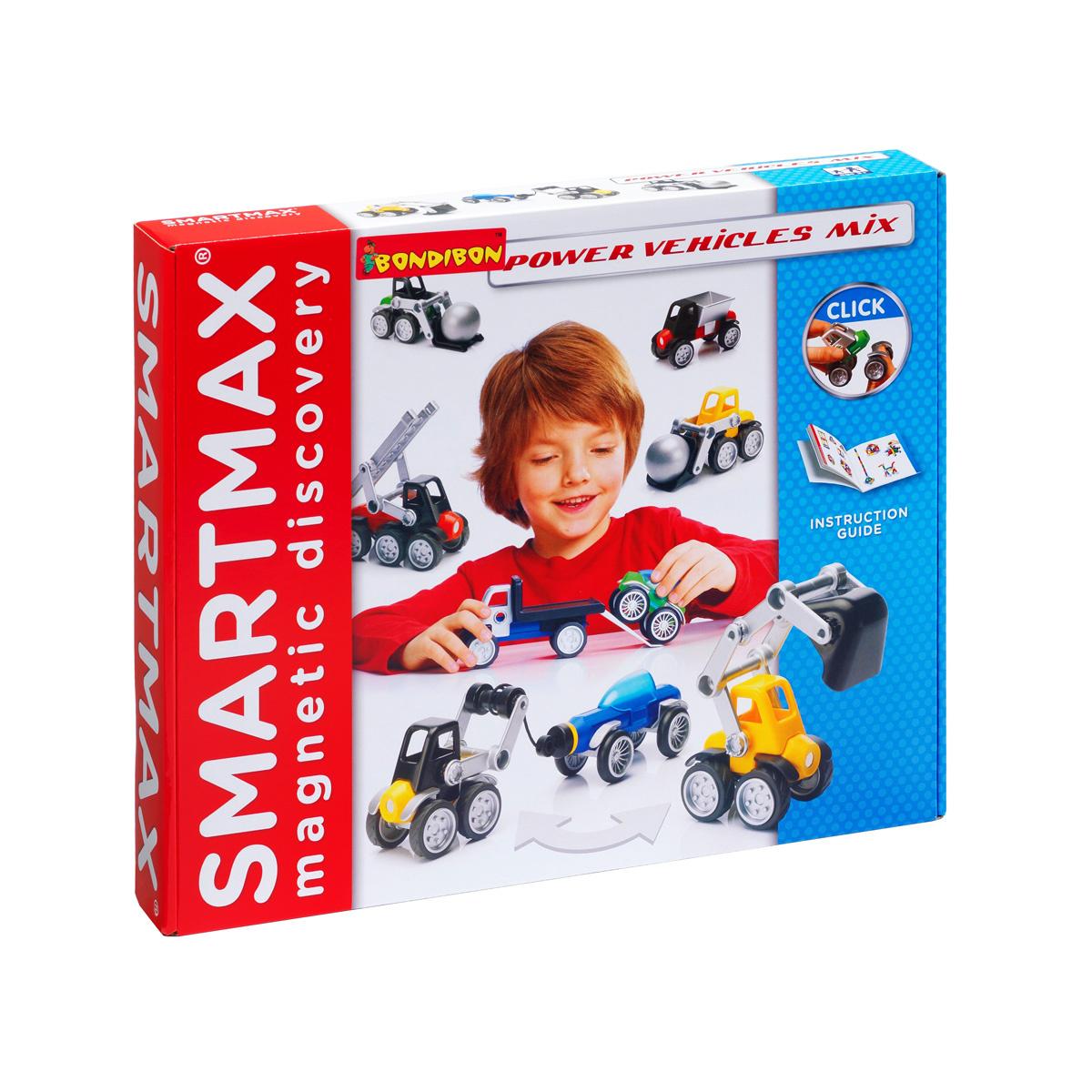 """Магнитный конструктор Bondibon Smartmax """"Специальный набор. Мощная техника"""", развивающая игра  #1"""