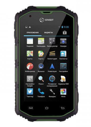 Смартфон SENSEIT R390+4GB, черный, зеленый #1