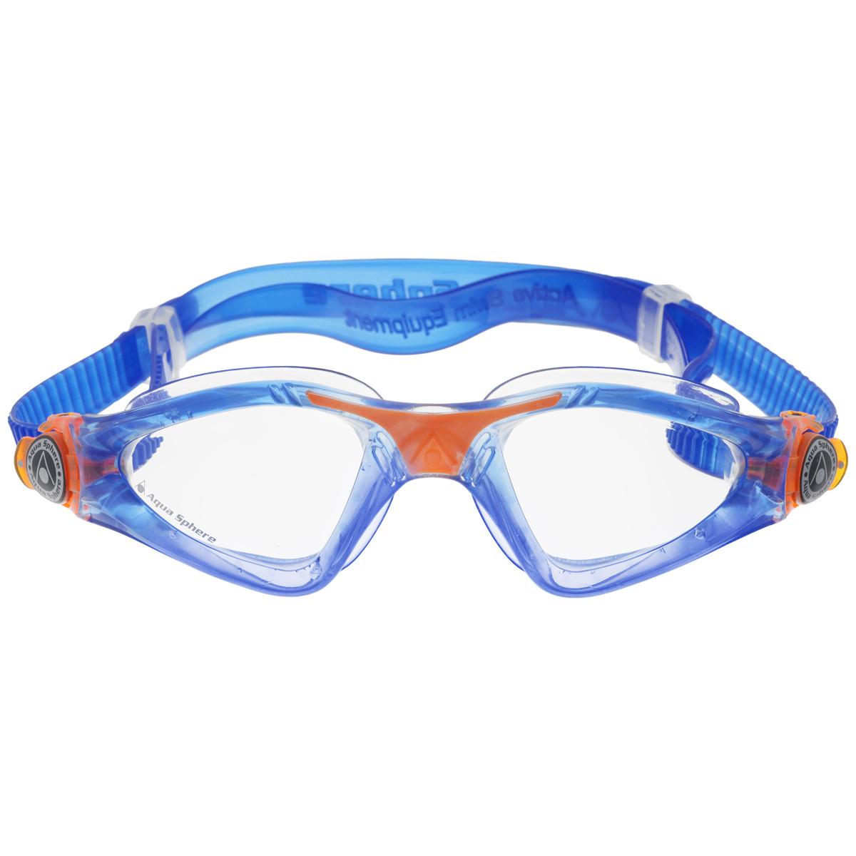 "Очки для плавания Aqua Sphere ""Kayenne Junior"", цвет: синий, оранжевый  #1"