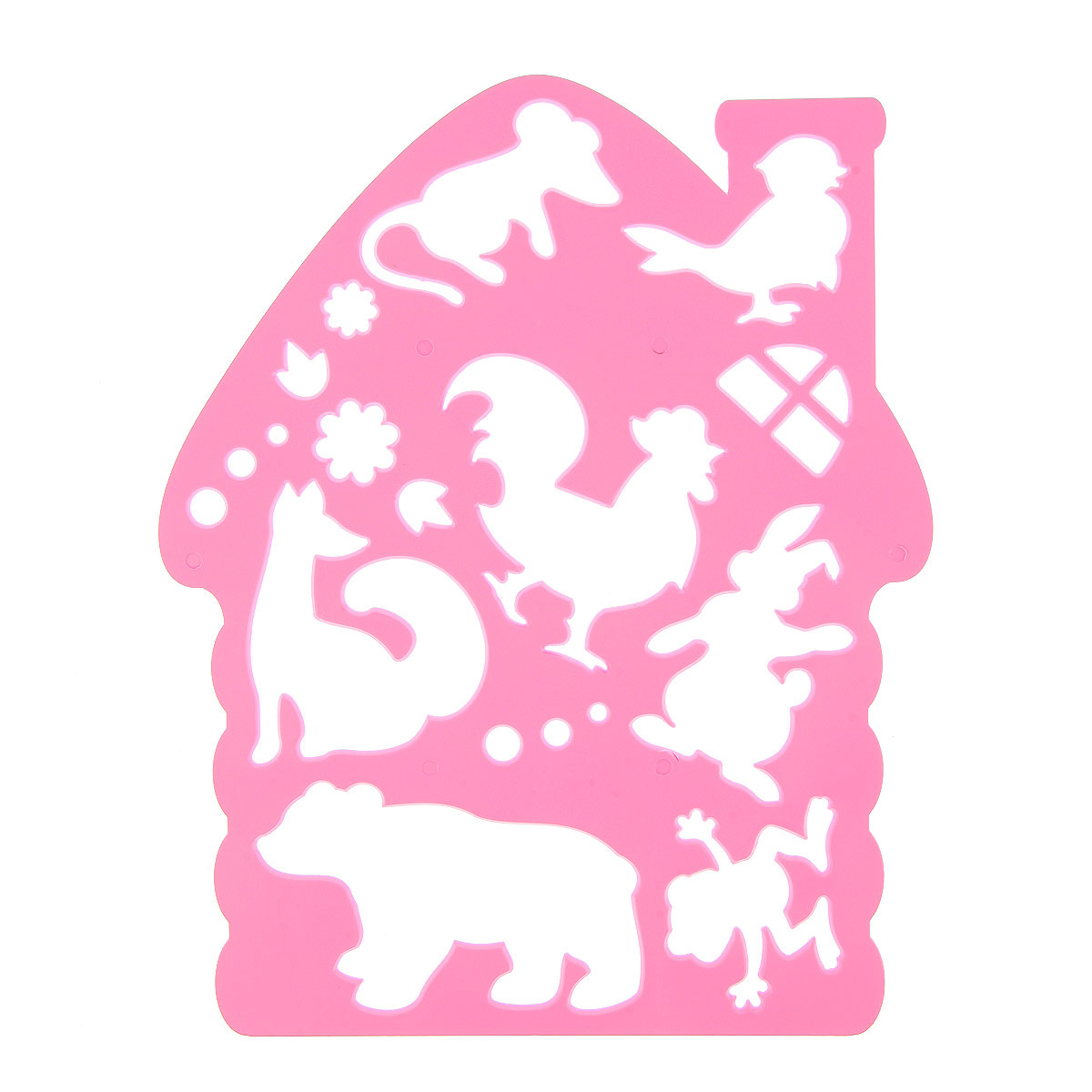 Луч Трафарет фигурный Теремок цвет в ассортименте #1