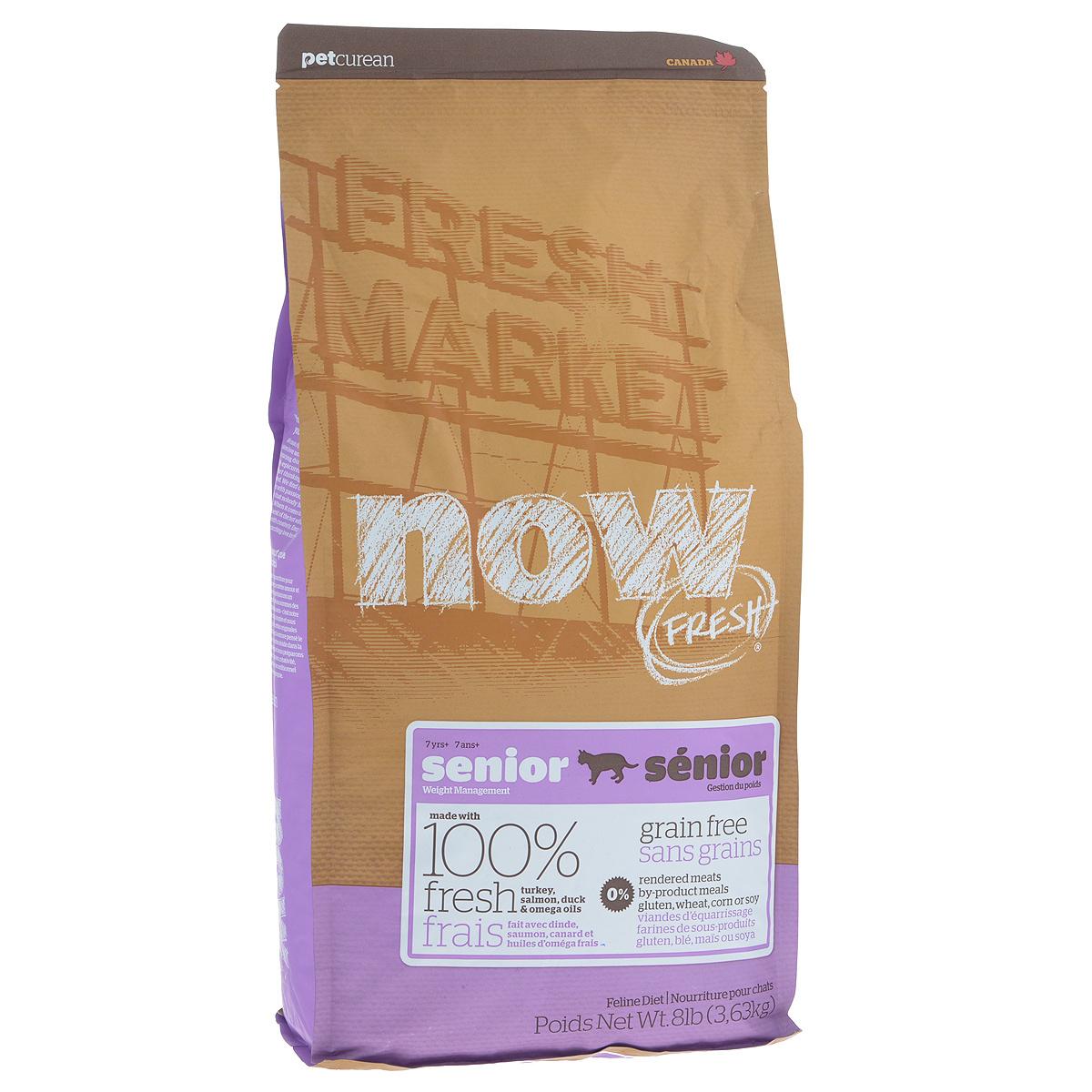 """Корм сухой Now Fresh """"Контроль веса"""" для кошек, беззерновой, с индейкой, уткой и овощами, 3,63 кг  #1"""