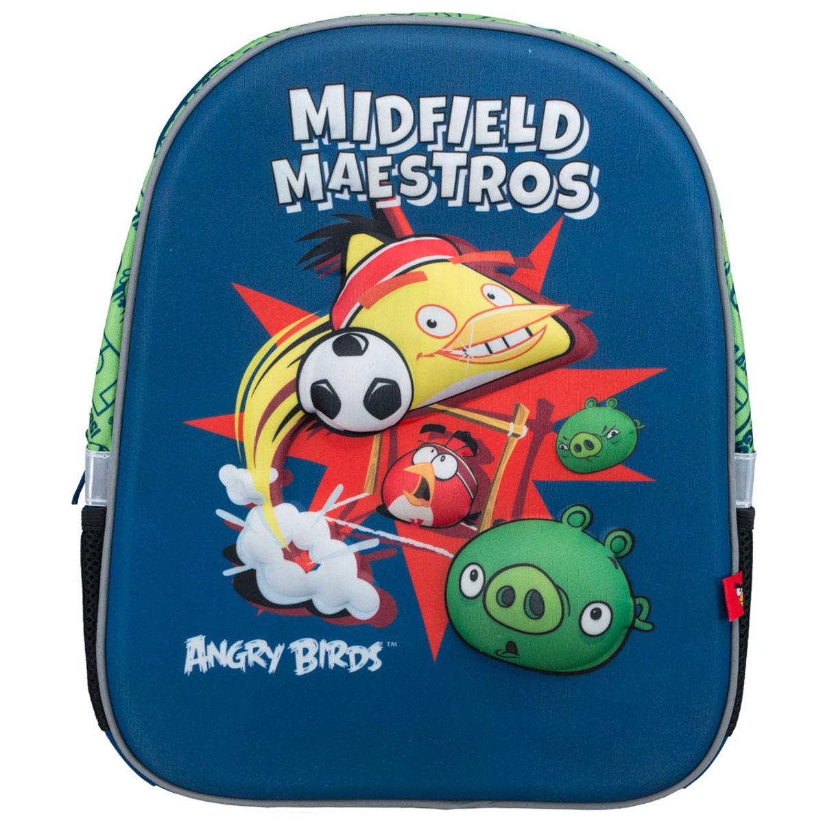"""Рюкзак """"Angry Birds"""", цвет: синий, салатовый, черный #1"""