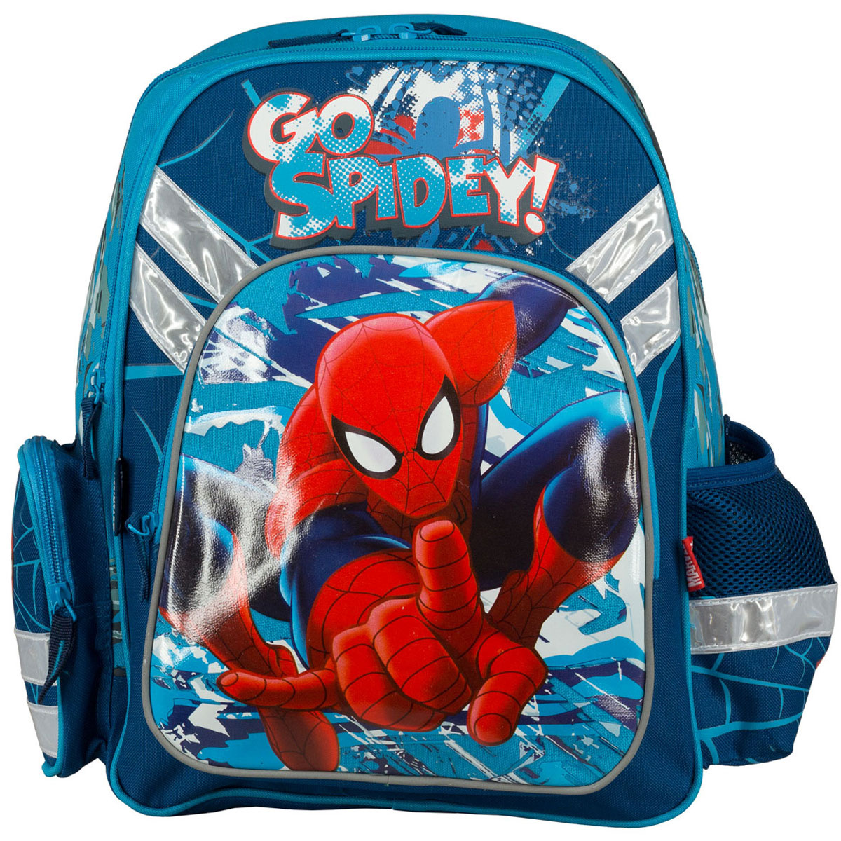 """Рюкзак школьный """"Spider-Man"""", цвет: темно-синий, голубой. SMCB-MT1-9621  #1"""