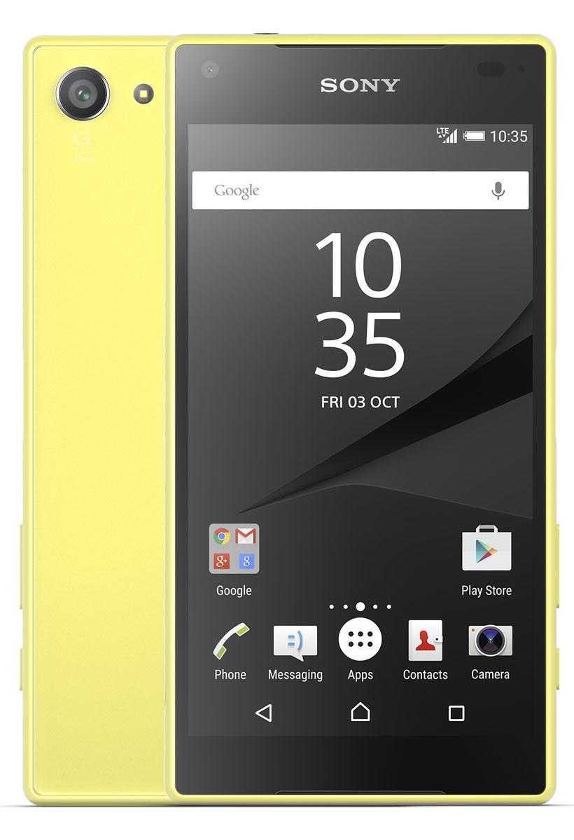 Смартфон Sony Xperia Z5 Compact32GB, желтый #1