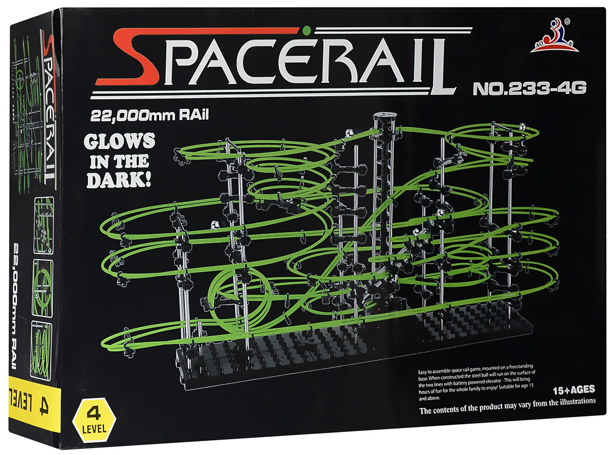 Space Rail Конструктор Glow In The Dark уровень 4 2200 см #1