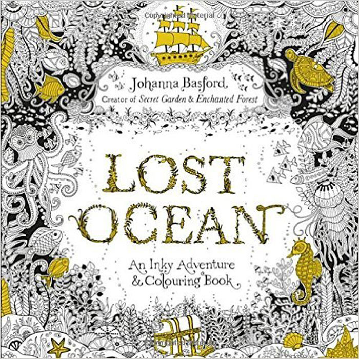 Lost Ocean: An Inky Adventure & Colouring Book #1