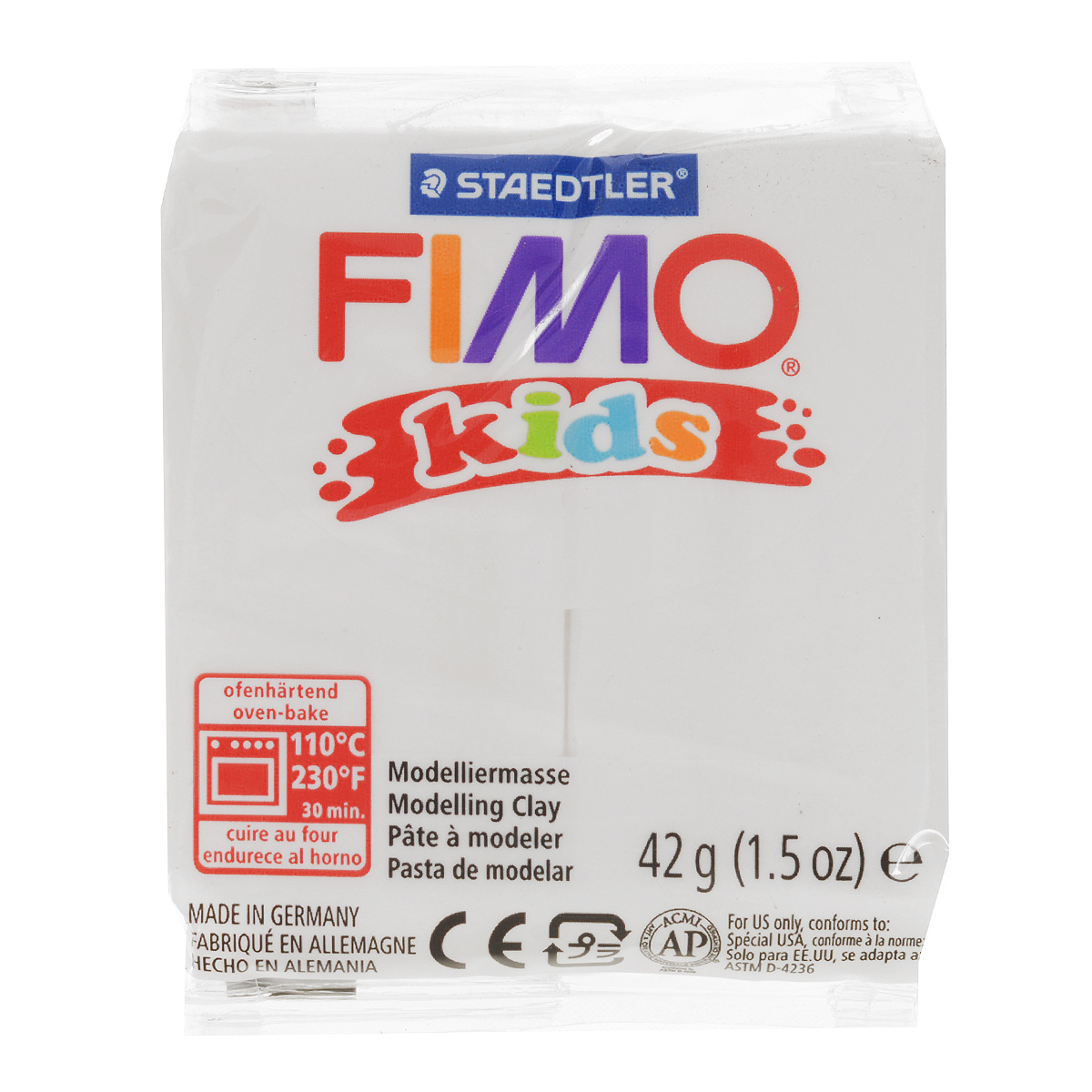 """Полимерная глина Fimo """"Kids"""", цвет: белый, 42 г #1"""