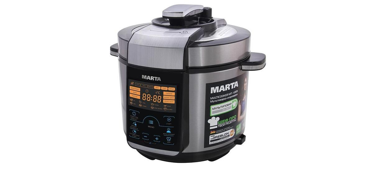 Marta MT-4309, Black Grey мультиварка #1