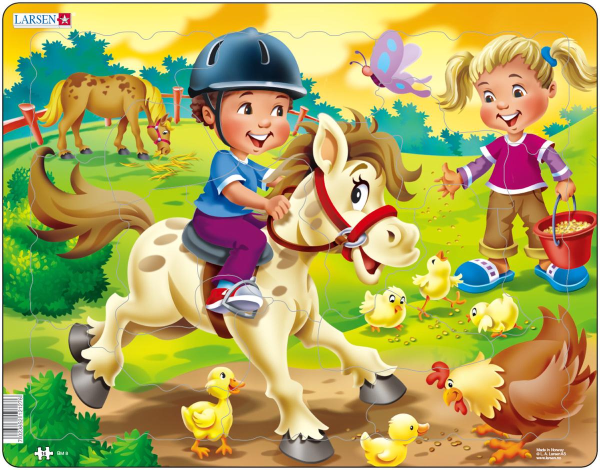 Larsen Пазл Дети на ферме Пони #1