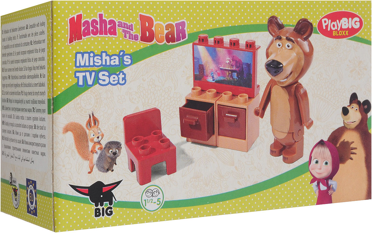 Play Big Конструктор Маша и Медведь Телевизор #1