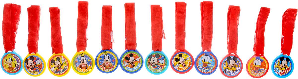 Веселая затея Медаль Disney Микки Маус12 шт #1