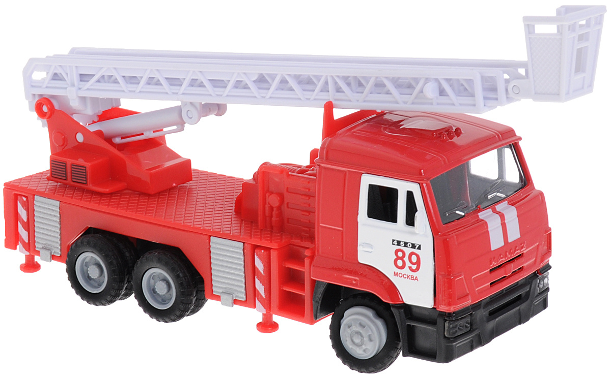 ТехноПарк Машинка инерционная КАМАЗ Пожарная служба #1