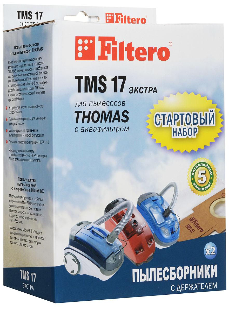 Стартовый набор Filtero TMS 17 для Thomas Мешок-пылесборник, синтетический, 2 шт + держатель  #1