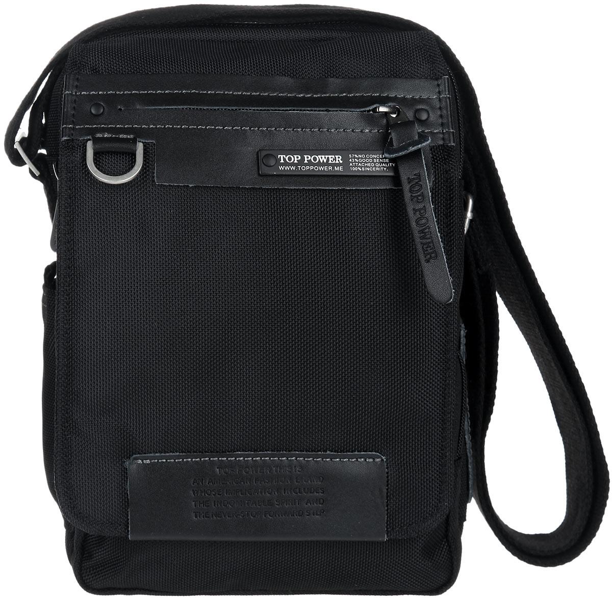 297d3892d3df Сумка-планшет мужская Top Power, цвет: черный. 640 TP — купить в  интернет-магазине OZON.ru с быстрой доставкой