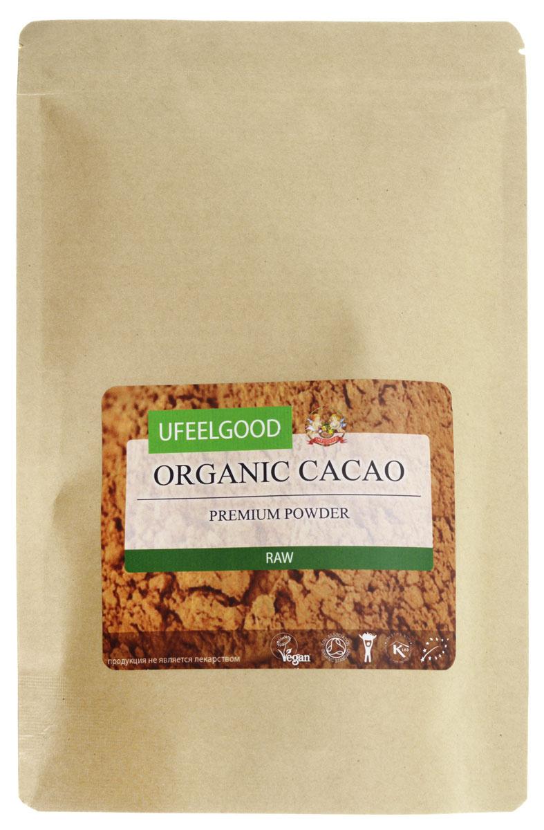 UFEELGOOD Organic Cacao Premium Powder органический какао порошок, 200 г #1