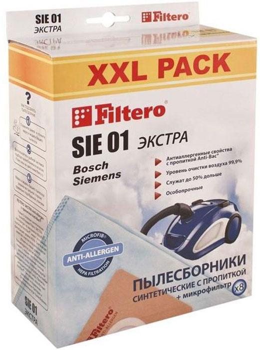 Мешок-пылесборник Filtero SIE 01 XXL Pack Экстра, для Bosch, Siemens, синтетический, 8 шт + фильтр  #1
