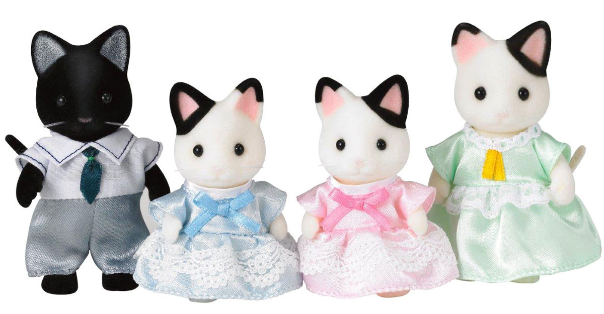 Sylvanian Families Набор фигурок Семья черно-белых котов #1