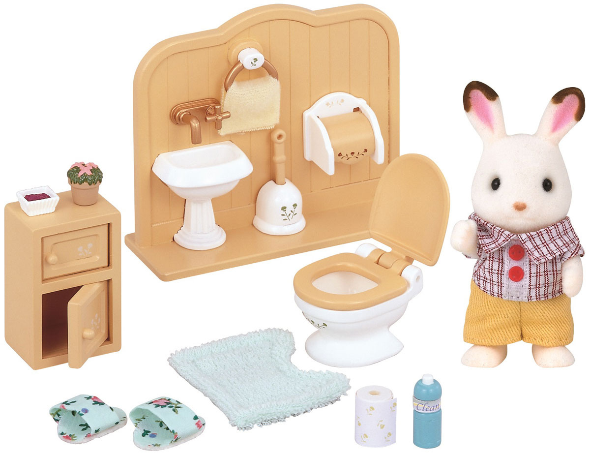 Sylvanian Families Игровой набор Братик и туалетная комната #1