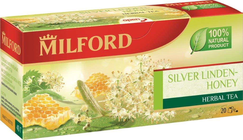 Milford Серебристая липа-Мед травяной чай в пакетиках, 20 шт  #1