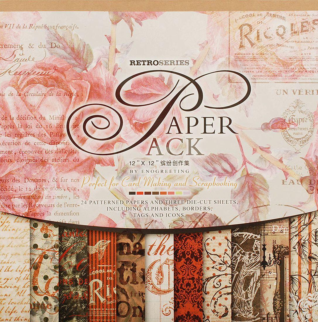 """Набор бумаги для скрапбукинга Белоснежка """"Королевские розы"""", 30,5 x 30,5 см, 24 листа  #1"""