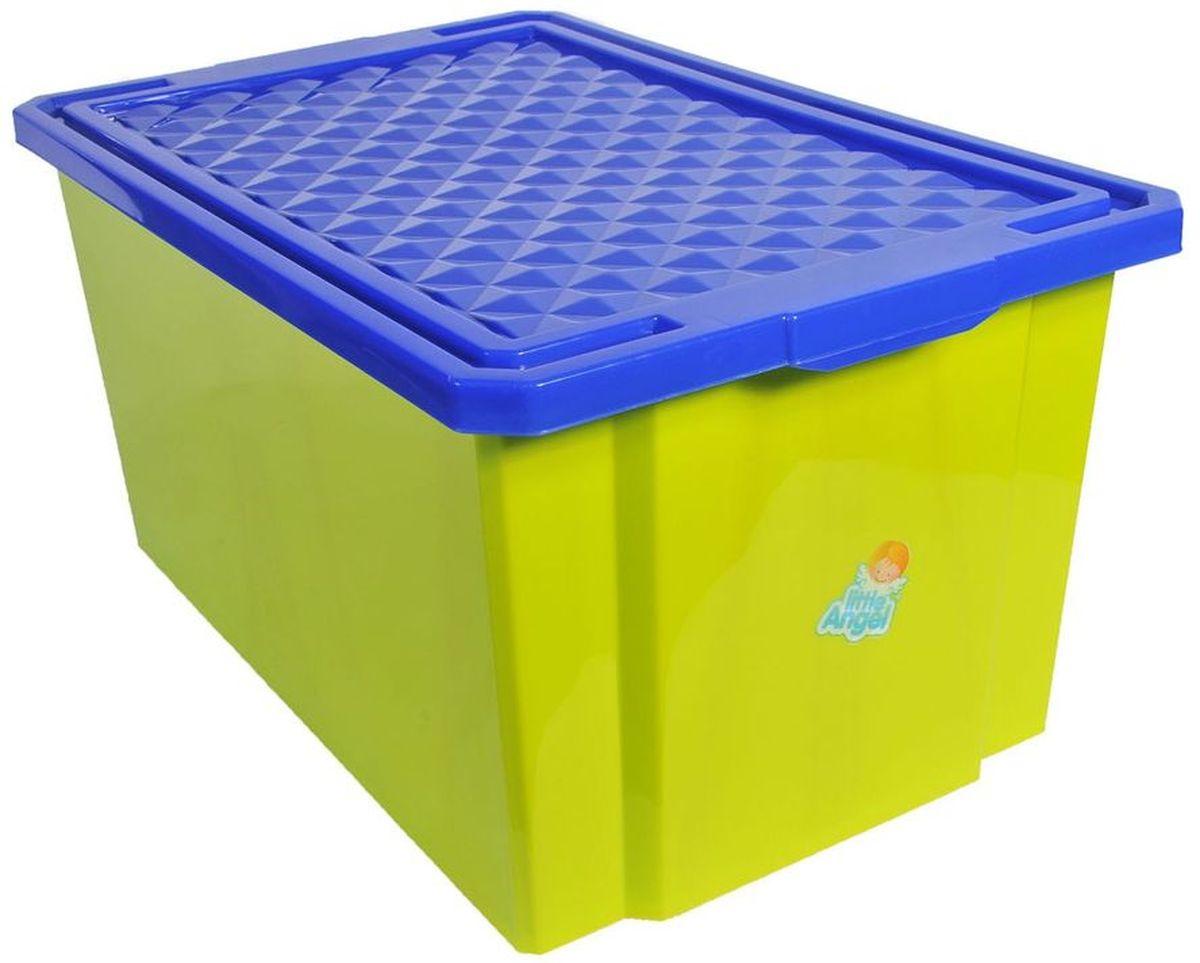 55fd25d2b27c Little Angel Ящик для игрушек на колесах 57 л цвет фисташковый — купить в  интернет-магазине OZON с быстрой доставкой