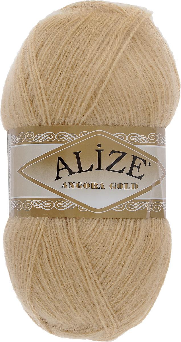 пряжа для вязания Alize Angora Gold цвет светло бежевый 95