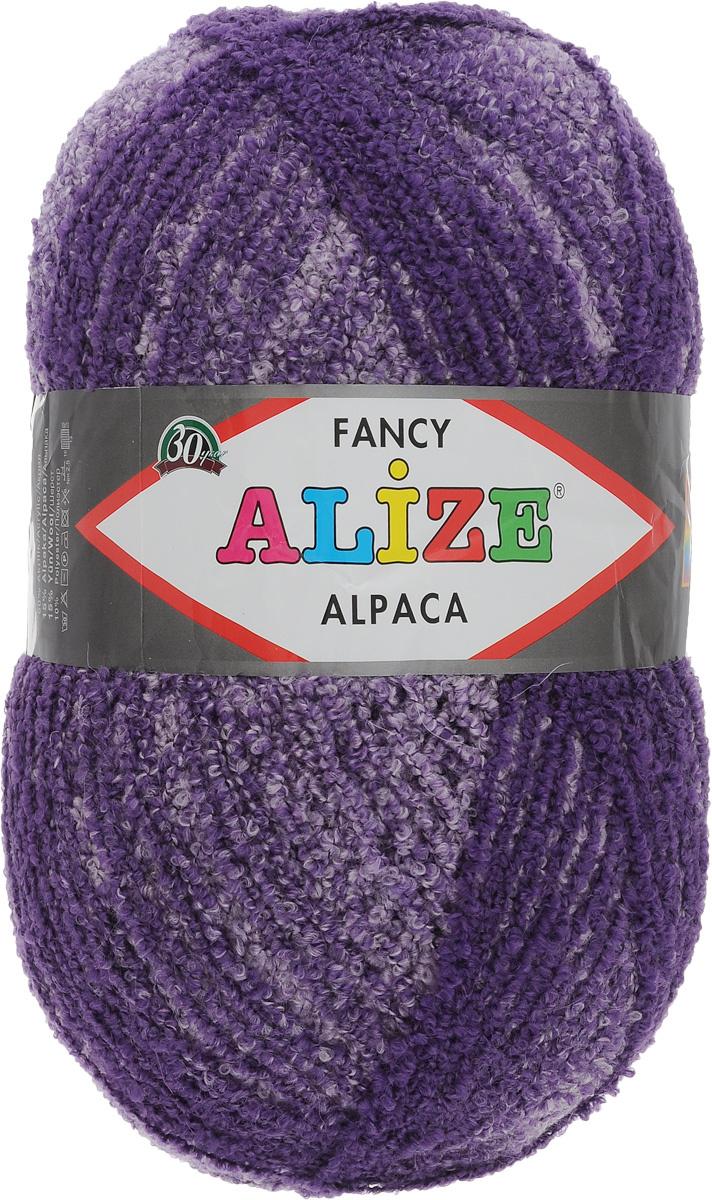 пряжа для вязания Alize Rainbow Alpaca Fancy цвет фиолетовый