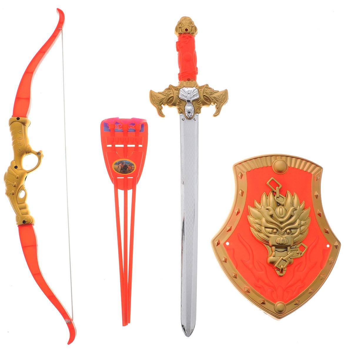 Играем вместе Набор оружия Три богатыря красный золотистый 7 предметов  #1