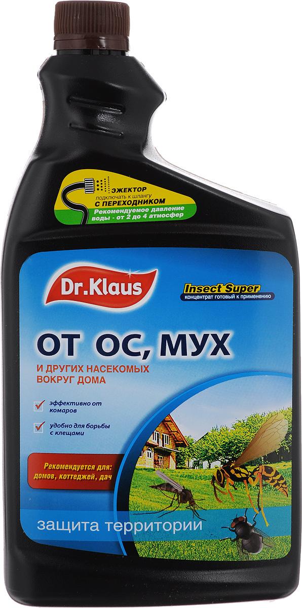 """Средство от мух, ос и других насекомых Dr.Klaus """"Insect Super"""", концентрат, сменный флакон, 1 л  #1"""