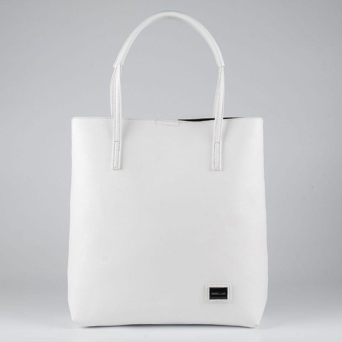 99b29bed8aa7 Сумка-шоппер женская Sabellino, цвет: белый. ЖС1512110_5 — купить в  интернет-магазине OZON.ru с быстрой доставкой
