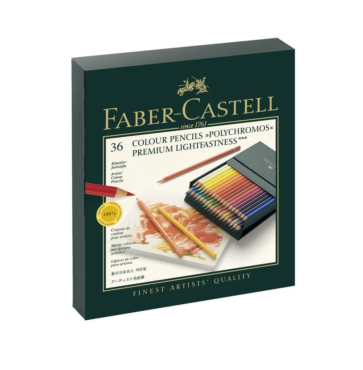 Цветные карандаши Faber-Castell Polychromos 36 цветов #1