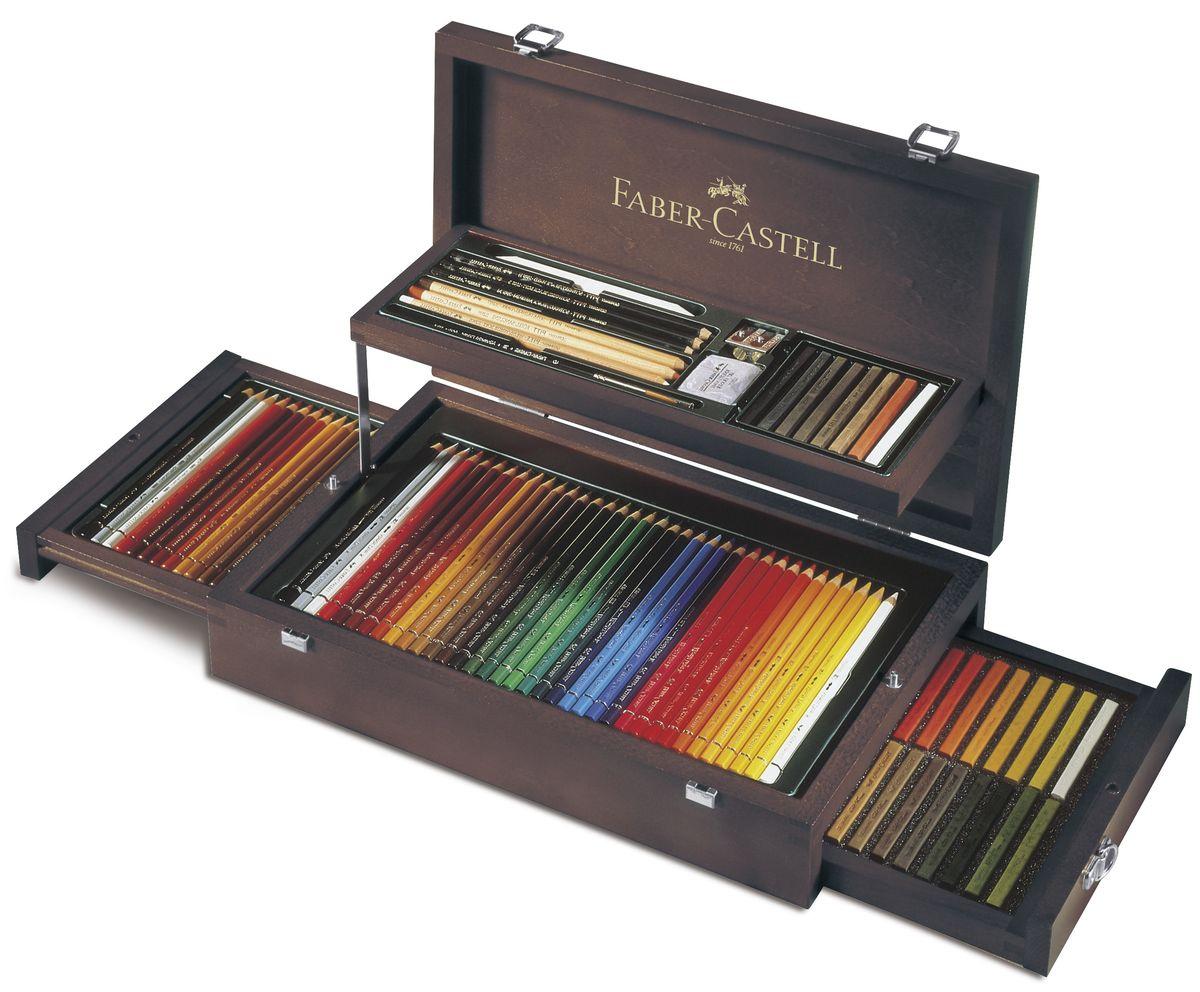 Художественный набор Faber-Castell Art & Graphic Collection в деревянном пенале 126 предметов  #1