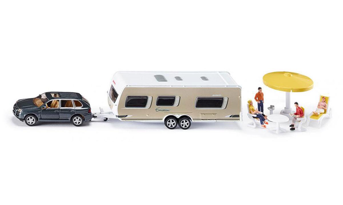 Siku Игровой набор Машина с домом на колесах Porsche Cayenne Turbo #1