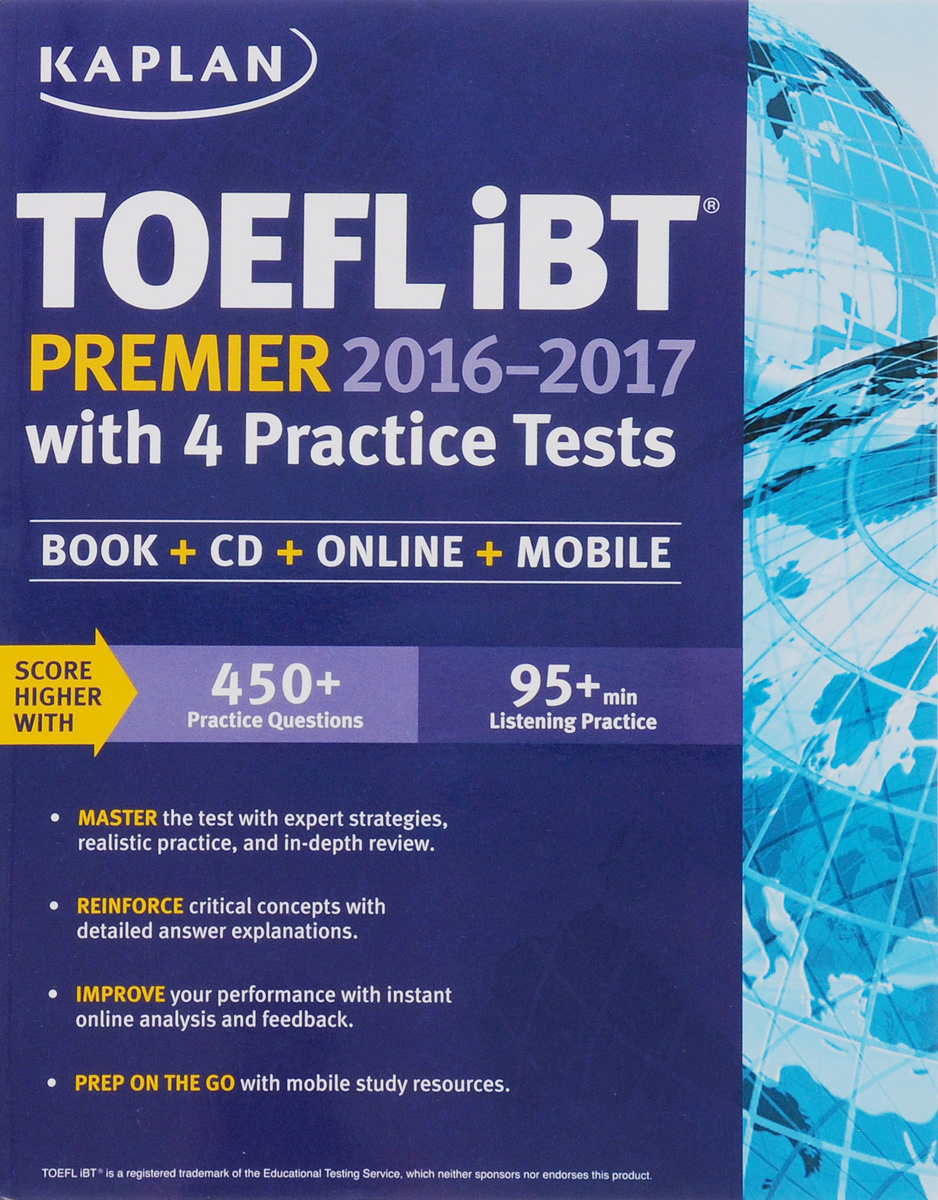 Kaplan TOEFL Ibt Premier 2016-2017 with 4 Practice Tests: Book + CD + Online + Mobile #1