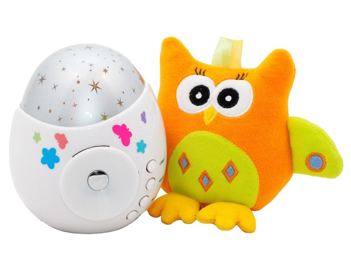 "ROXY-KIDS Игрушка-проектор звездного неба ""COLIBRI"" с совой #1"
