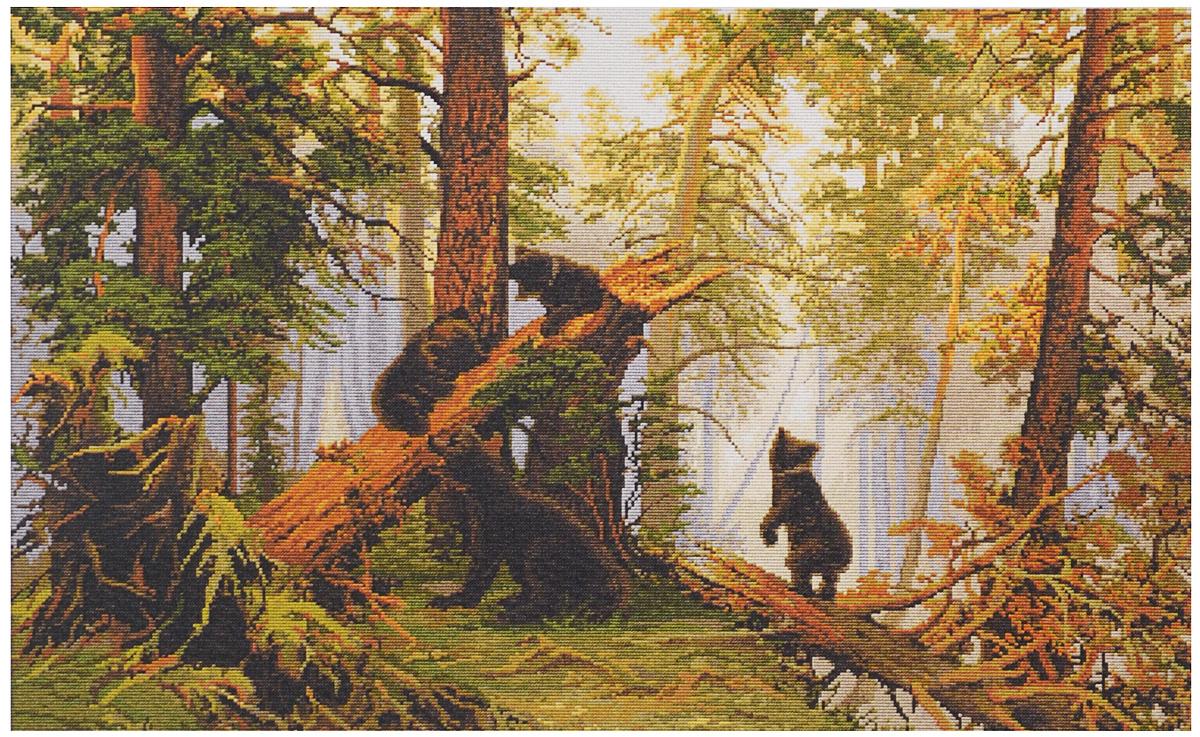 утро в сосновом лесу вышивка luca s