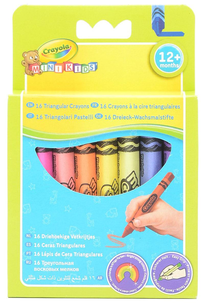 """Треугольный восковой мелок """"Crayola"""", смываемый, 16 шт #1"""