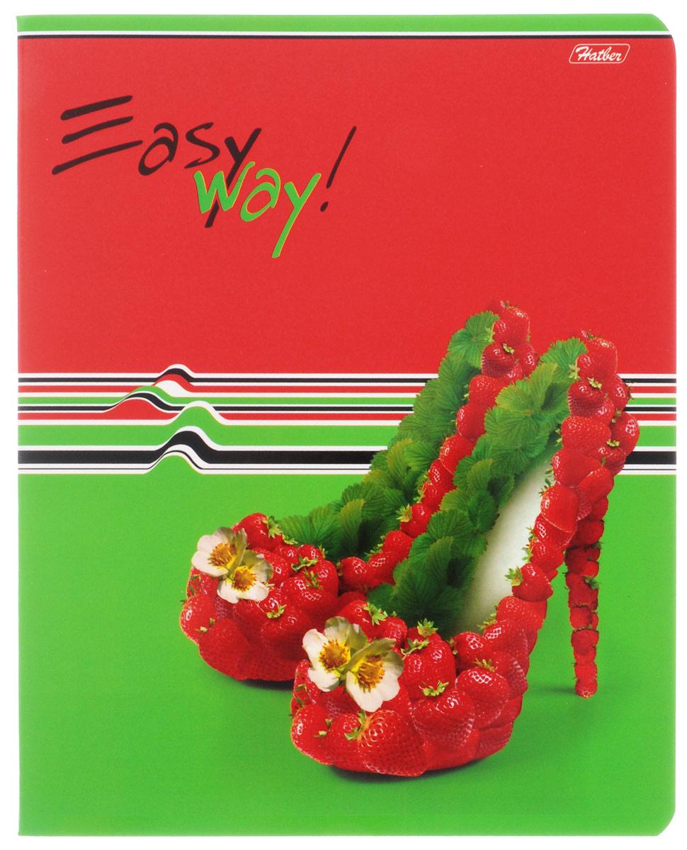 Hatber Тетрадь Фруктово-ягодный шик 48 листов в клетку цвет красный зеленый  #1