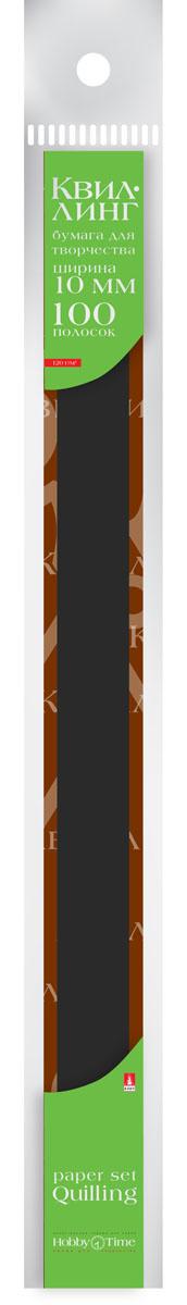 Альт Бумага для квиллинга 10 мм 100 полос цвет черный #1