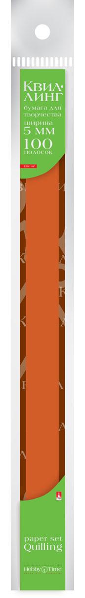 Альт Бумага для квиллинга 5 мм 100 полос цвет коричневый #1