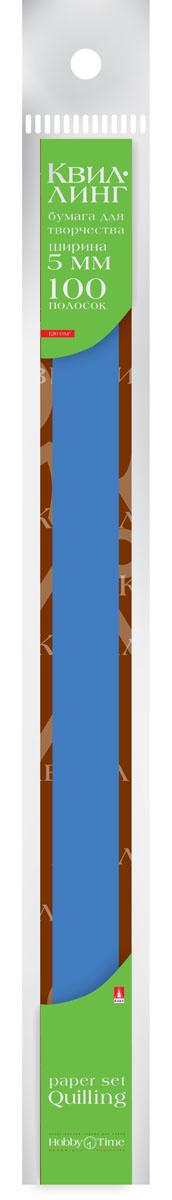 Альт Бумага для квиллинга 5 мм 100 полос цвет синий #1