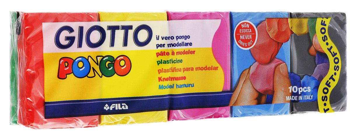 Giotto Пластилин восковой Pongo 10 цветов #1