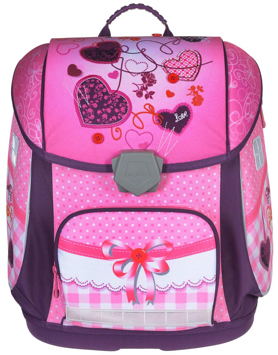 febe7f4eb394 MagTaller Ранец школьный ранец Ezzy II Sewing Hearts — купить в интернет- магазине OZON.ru с быстрой доставкой