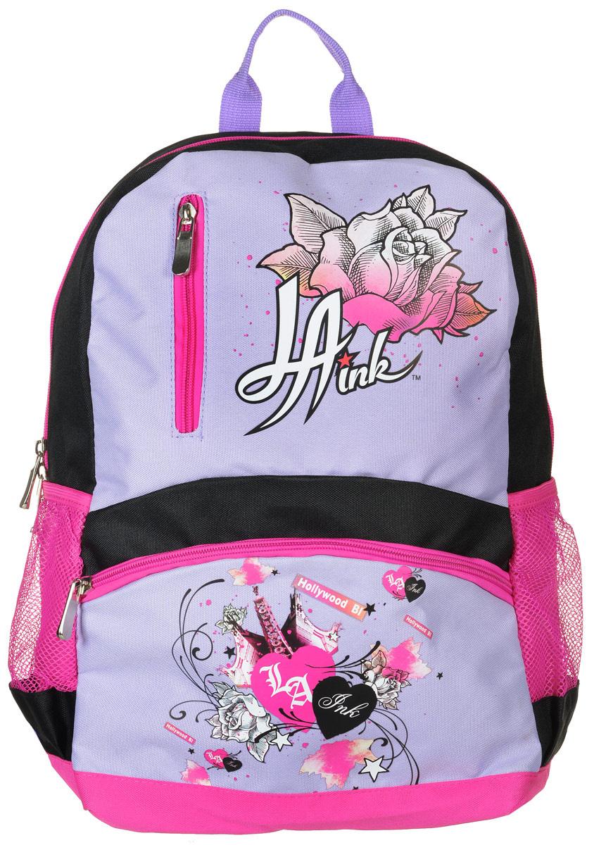 Action! Рюкзак детский La Ink цвет черный розовый сиреневый #1