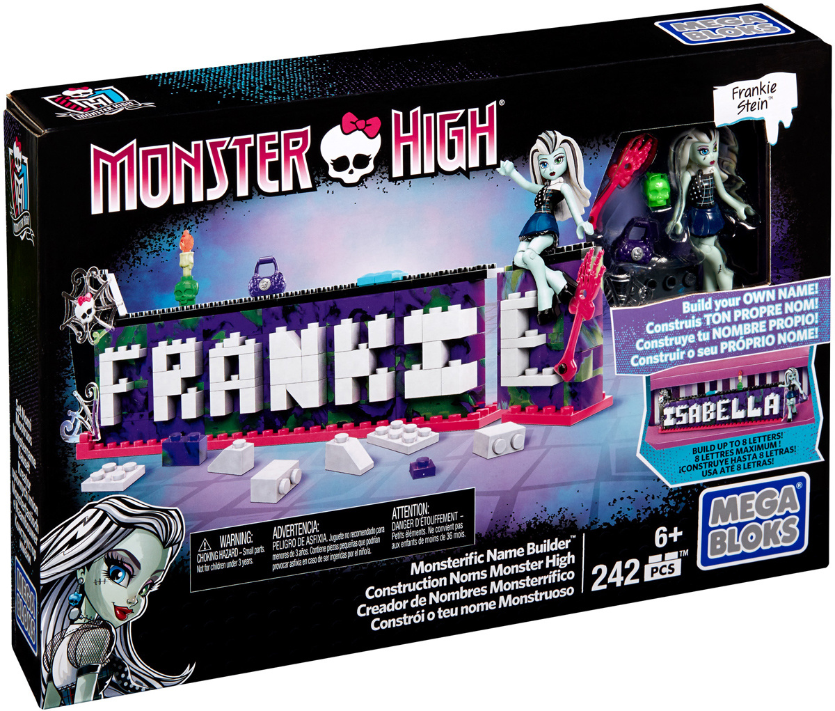 Mega Bloks Monster High Конструктор Табличка для имени Monster High #1