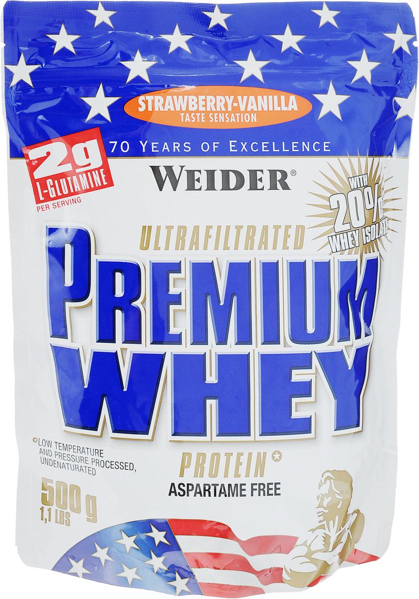 """Протеин сывороточный Weider """"Premium Whey"""", клубника-ваниль, 500 г #1"""