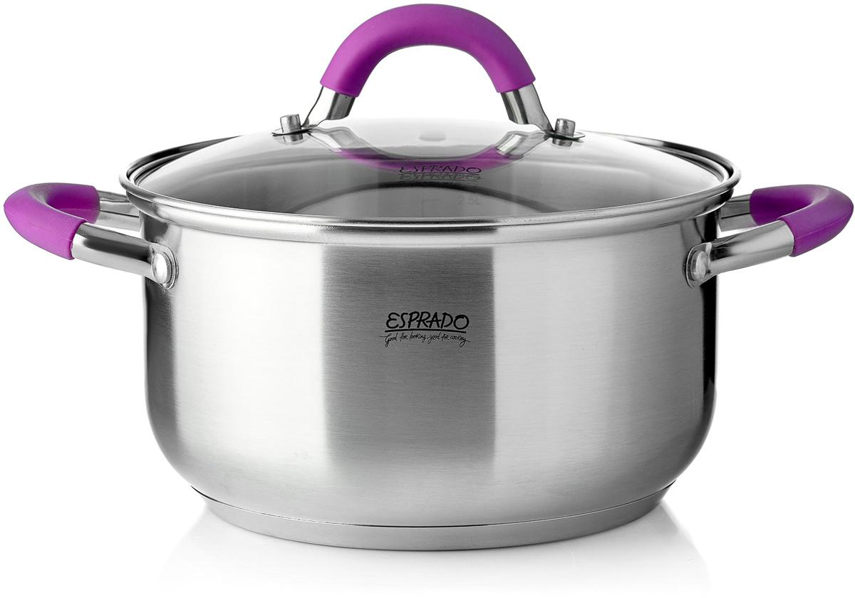 Кастрюля Esprado 2,5 л серебристый, фиолетовый ALML18SE101 #1