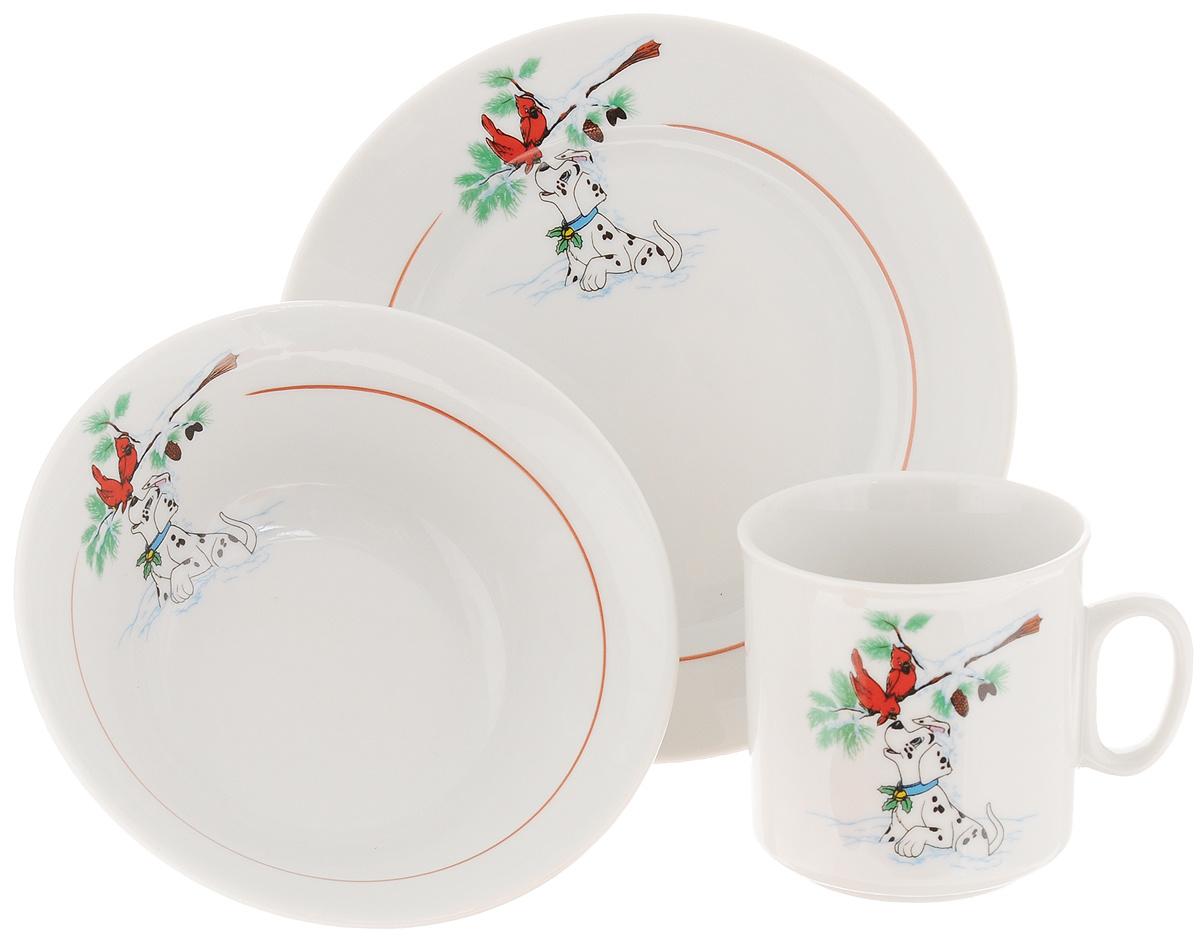 набор столовой посуды белый фарфор