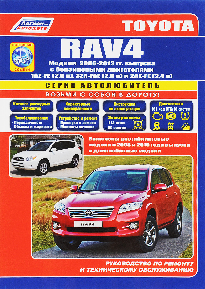 Toyota RAV 4. Модели с 2006 года выпуска с бензиновыми двигателями 1AZ-FE (2,0 л), 3ZR-FAE (2,0 л) и #1