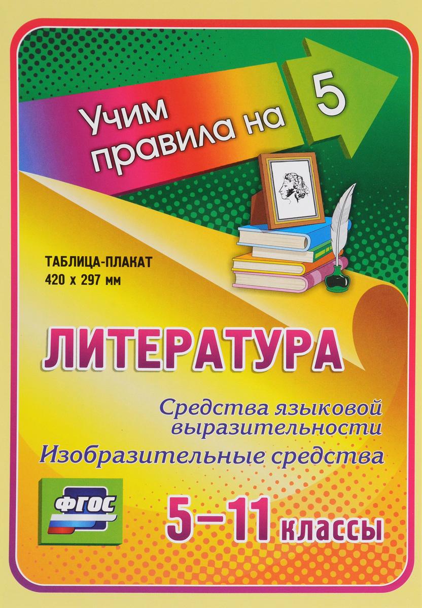 Литература. Средства языковой выразительности. Изобразительные средства. 5-11 классы. Таблица-плакат #1